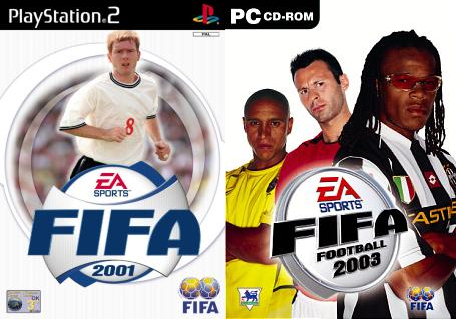 scholes and giggs on fifa 2001 and fifa 2003 covers